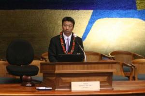Tsutsui Let Lawmaker Vote To Confirm His Own Son