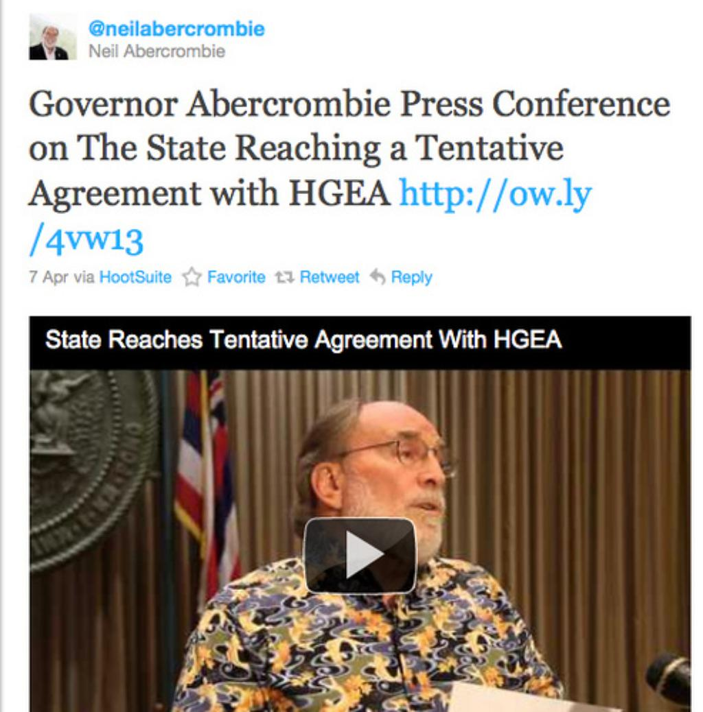 Week 49: Hawaii Governor Holds Fake Press Conference