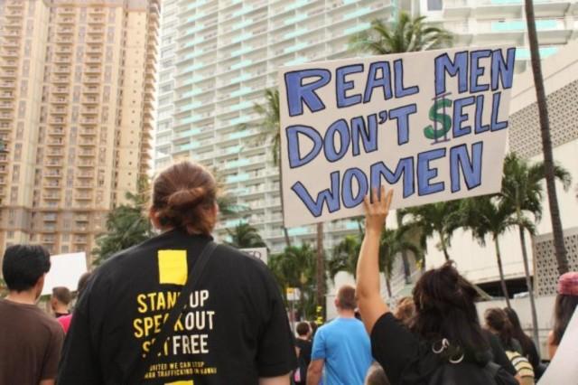Human Trafficking bill supporters