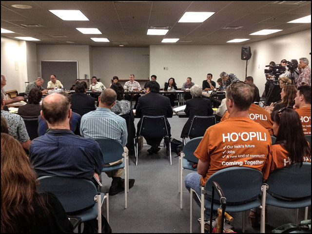 The state Land Use Commission deliberates on D.R. Horton's Hoopili development in 2012.