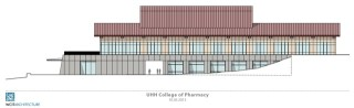 mockup of uh hilo pharmacy school building
