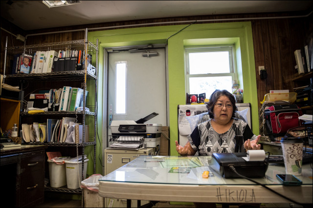Molokai Hikiola farm coop manager Tina Tamanaha in her office on July 2, 2014