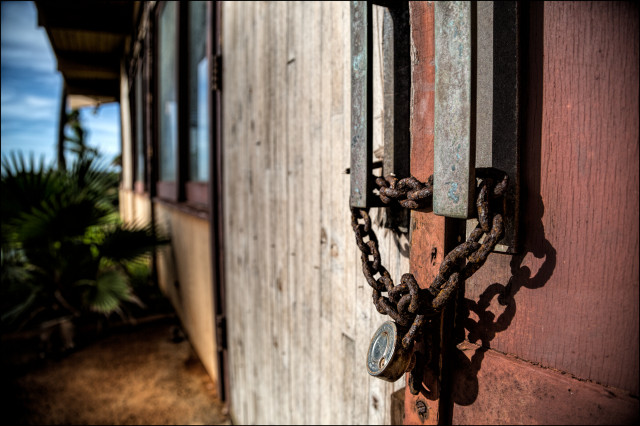 EMBARGOED FOR MOLOKAI 7.14.14 The decaying closed Sheraton Hotel on the west end of Molokai.