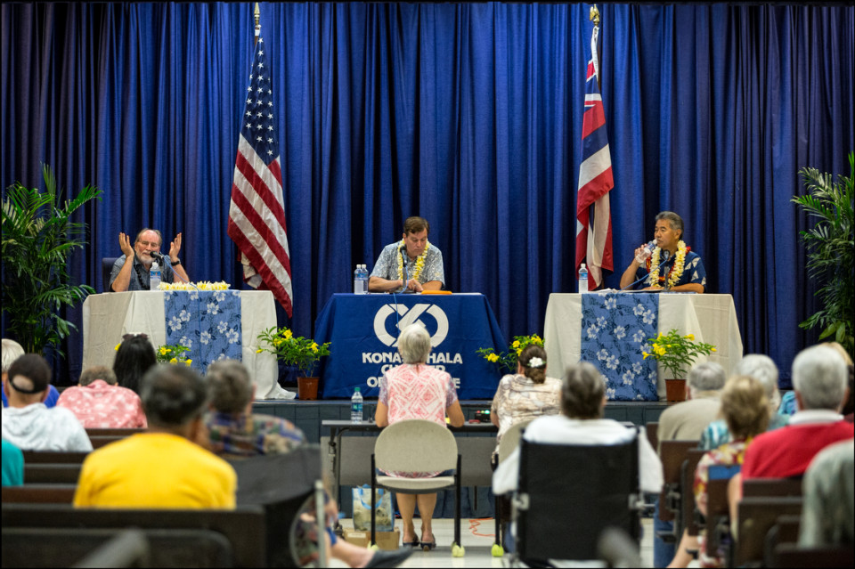 A Long Day on the Big Island as Abercrombie, Ige Conclude Face-to-Face Combat