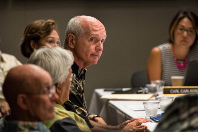 Now former UH Board of Regent John Dean shown in Regents meeting on 6.2.14.