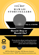 Hawaii Storytellers: Should I Stay Or Should I Go?