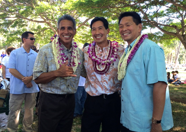 Duke Aiona, Charles Djou and Elwin Ahu 8.23.2014