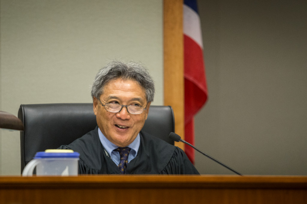 Circuit Court Judge Greg Nakamura during the Hanabusa vs. Nago election court case in Hilo on August 14, 2014