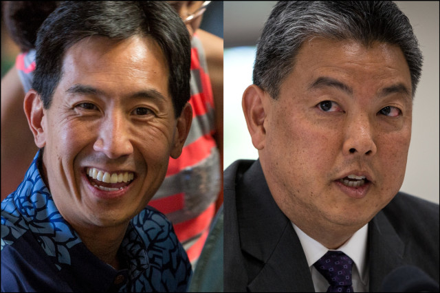 Charles Djou and Mark Takai.