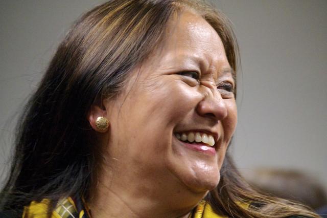 Margaret Masunaga smiles