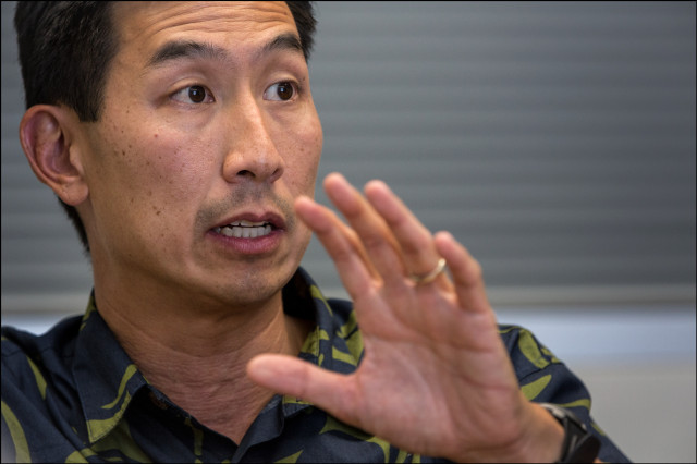 Charles Djou during a Civil Beat Editorial Board on October 7, 2014
