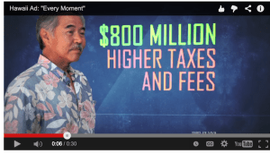 GOP Governors Assn: David Ige Voted to Raise Taxes $800M