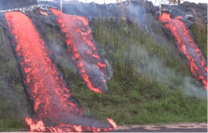 Mesmerizing 'Lavafall' Consumes Hawaii Hill
