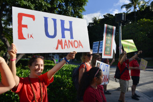 The Projector:  Duke Aiona Changes Diapers, UH Protesters and the Case Against PRP