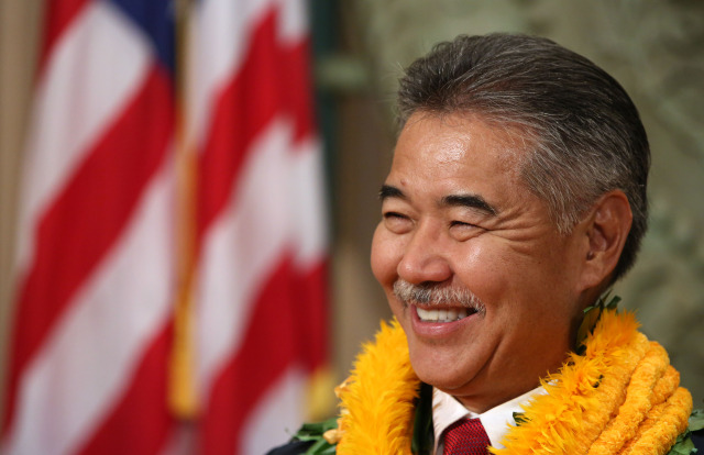 Governor David Ige gives his first press conference at his office on the 5th floor of the State Capitol.  1 dec. 2014. photo Cory Lum
