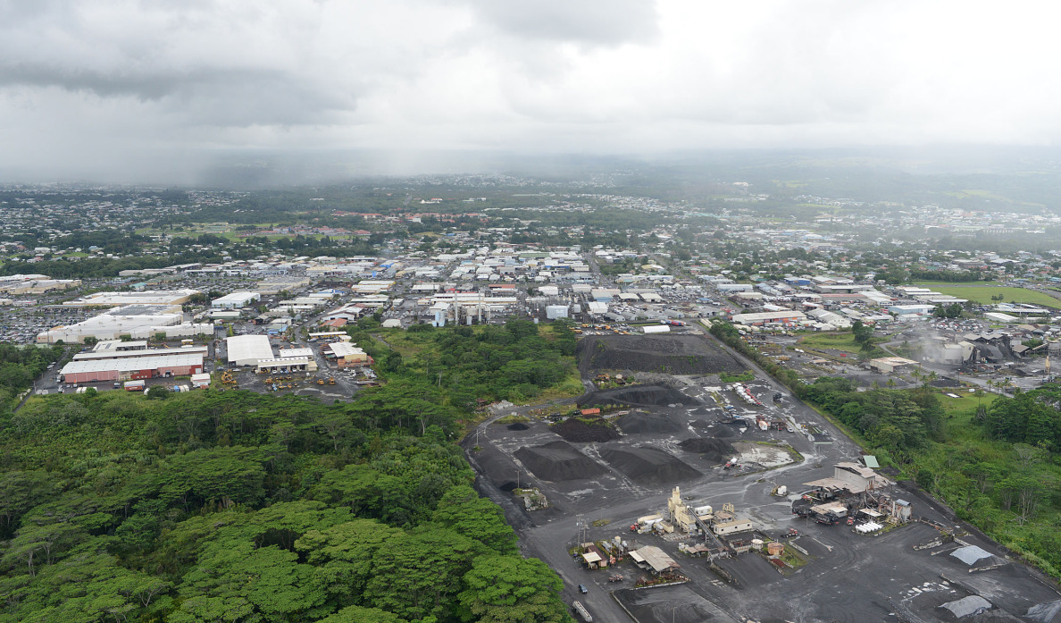 file photograph hilo, hawaii aerial. 2014. photograph Cory Lum