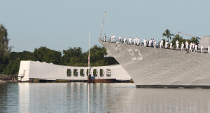 Boat Crashes Into USS Arizona Memorial In Pearl Harbor