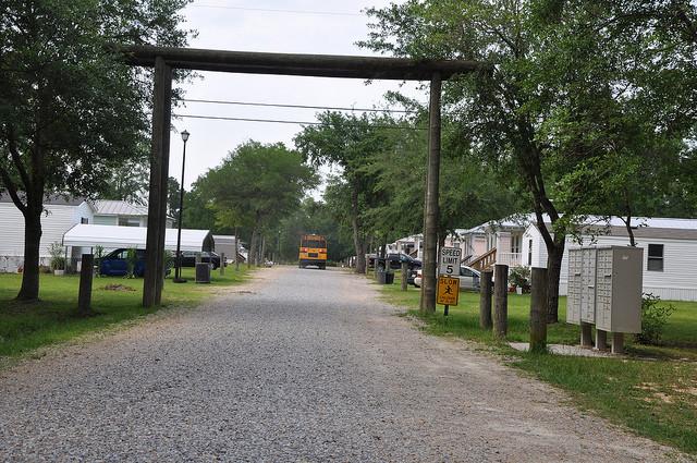 mobile home park in Mississippi