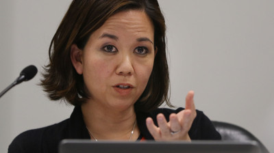 Chair of the Ways and Means committee Jill Tokuda. REIT.  18 feb 2015. photograph Cory Lum/Civll Beat