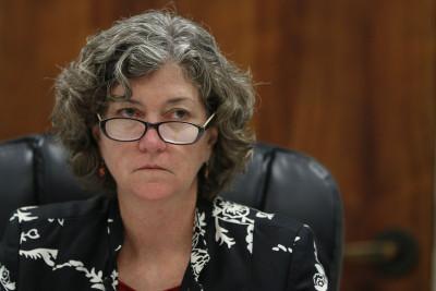 Senator Laura Thielen looks on during a Senate Committee on Tourism and International affairs meeting. 18 feb 2015. photograph Cory Lum/Civil Beat