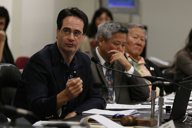 Rep. Karl Roads chairs committee looking into Calvin Say's residence issues.  13 feb 2015. photograph Cory Lum/Civil Beat