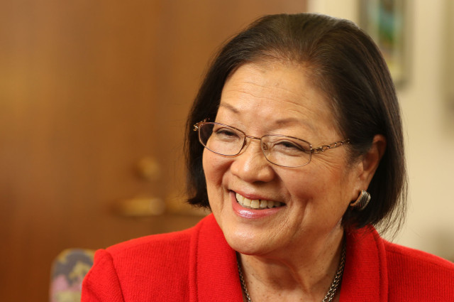 Senator Mazie Hirono at her office interview. 25 feb 2015. photograph Cory Lum/Civil Beat