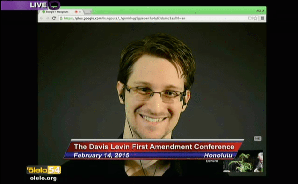 From Moscow, With Aloha: A Recap of Snowden's Talk in Hawaii (VIDEO)
