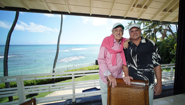 Jim Nabors and husband Stan Cadwallader at their residence. 20 march 2015. photograph Cory Lum/Civil Beat