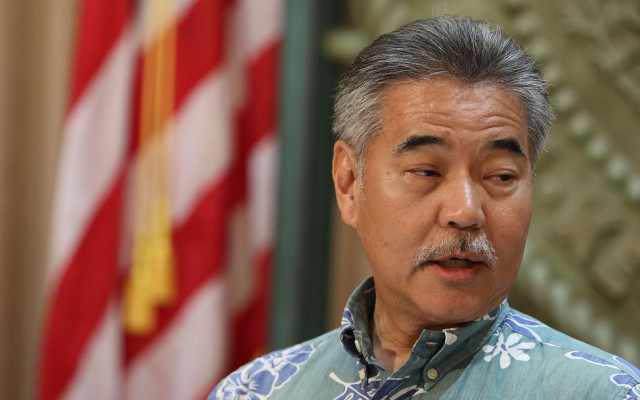 Governor David Ige on his 2nd part of his press conference discussing Maunakea and the telescope project.  7 april 2015.  photograph by Cory Lum/Civil Beat