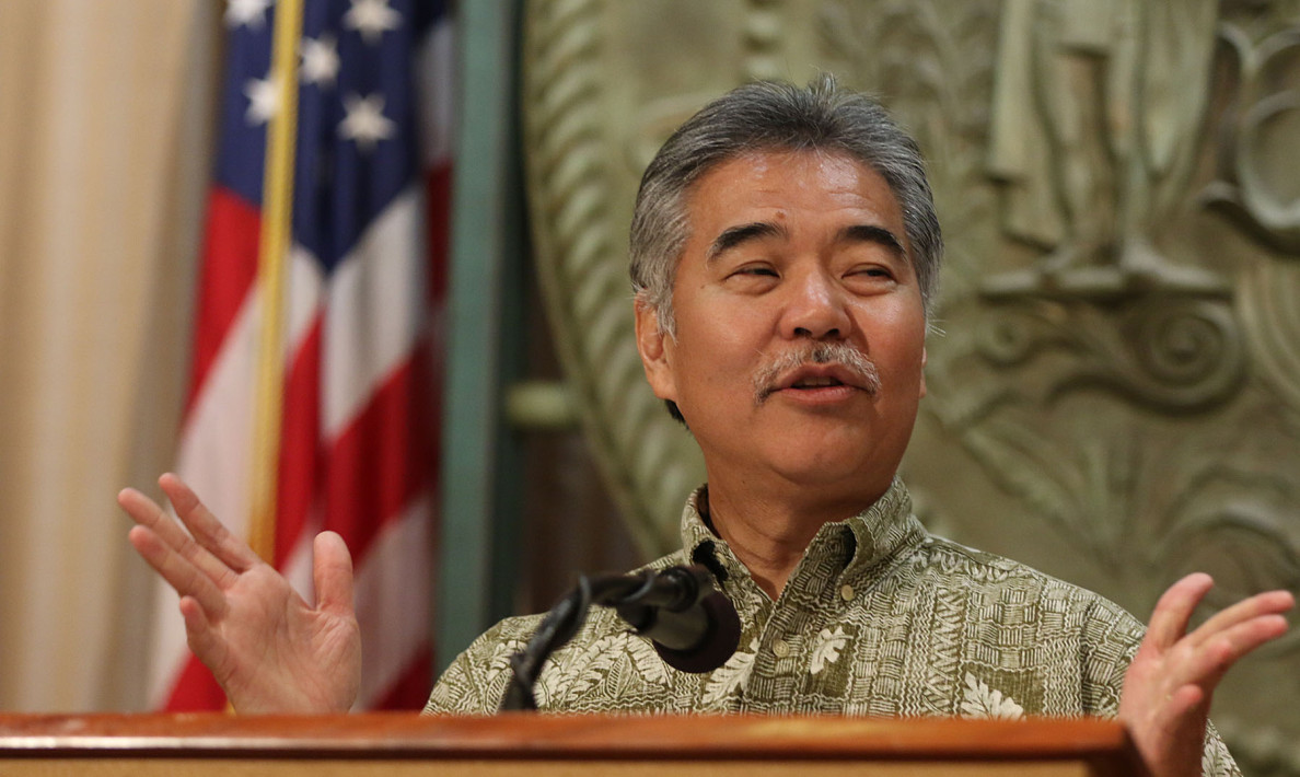 Gov David Ige during press conference.  30 april 2015. photograph Cory Lum/Civil Beat