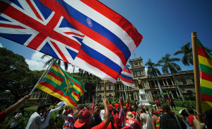 Residents Opposing Mauna Kea Telescope March on the Capitol