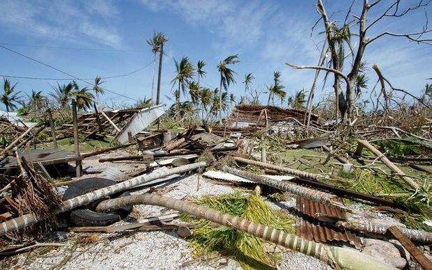 Damage caused by Typhoon Maysak in Ulithi, Yap, Federated States of Micronesia.
