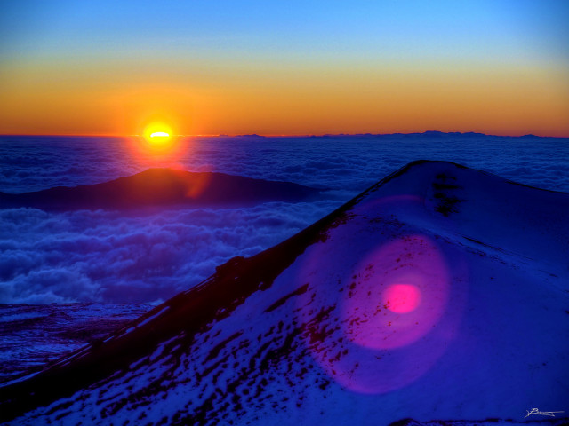 Sunset Above Mauna Kea