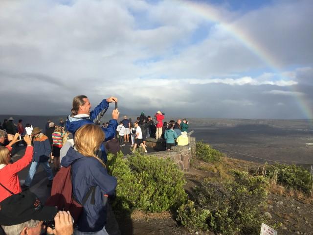 tourists at Kilauea
