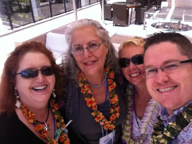 Denise Laitinen and other members of Social Media Club Hawaii