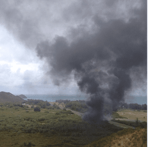 Marine Helicopter Crashes At Bellows Air Force Base