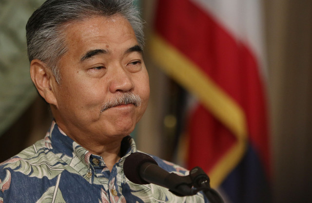 Governor David Ige during press conference announcing several bills he will veto. 29 june 2015. photograph by Cory Lum/Civil Beat