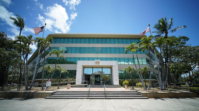 Queen Liliuokalani Building. Board of Education offices. 16 june 2015. photograph Cory Lum/Civil Beat
