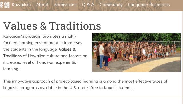 Kawaikini website