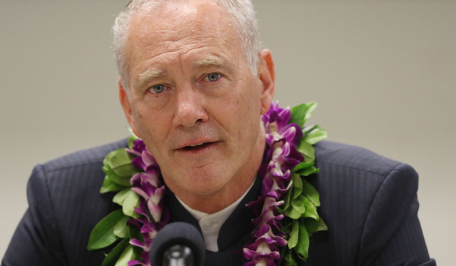 Hawaii Supreme Court Associate Justice Michael Wilson during press conference held at UH Law building on Environmental Court. 26 june 2015. photograph by Cory Lum/Civil Beat
