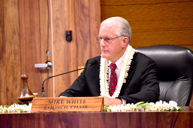 Maui Council Chair Mike White