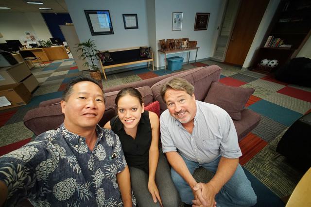 Chad Blair, Anita Hofschneider, Cory Lum.  31 july 2015. photograph Cory Lum/Civil Beat