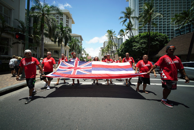 Aloha Aina March Ala Alu Kuilima.  10 aug 2015. photograph Cory Lum/CIvil Beat