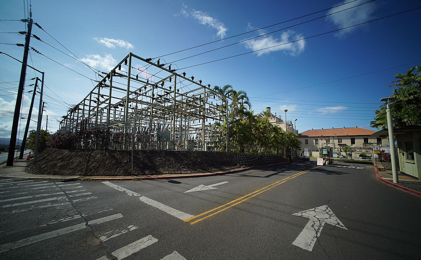Hawaiian Electric power plant. Pearl City. 22 aug 2015. photograph Cory Lum/Civil Beat