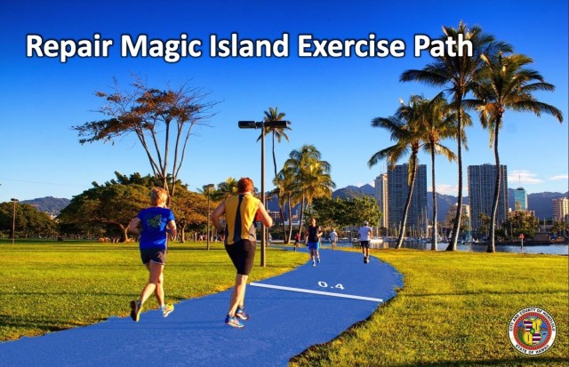 Planned Magic Island exercise path