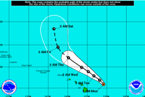 Ignacio Weakens and Moves Farther North of Hawaii