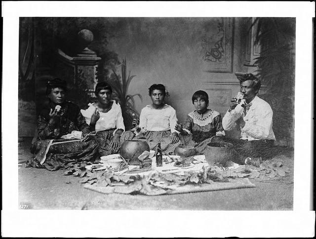 Portrait of Native Hawaiian family, 1907.