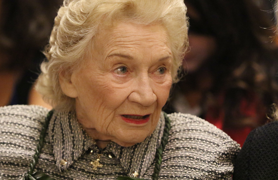 Abigail Kawananakoa at Supreme Court. 27 aug 2015. photograph Cory Lum/Civil Beat
