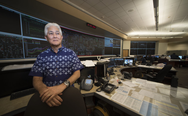 Chief Executive Officer and President Hawaiian Electric Company Alan Oshima. photograph Cory Lum/Civil Beat