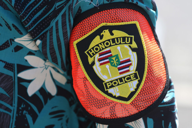 Plain clothes Honolulu Police Department officers. 8 sept 2015. photograph Cory Lum/Civil Beat